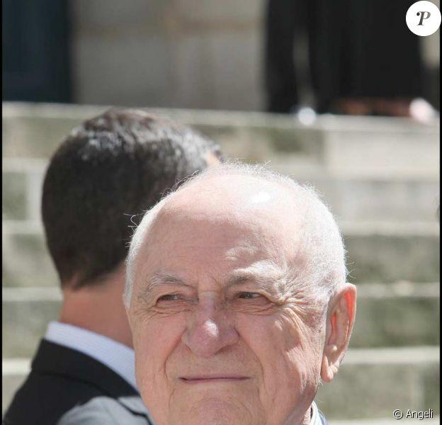 Pierre Bergé à l'Elysée en juin 2009