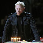 Boris Becker souffle ses bougies avec sa femme très enceinte et... ses vieux copains !