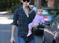 Jennifer Garner opte pour le look bûcheron... pendant que sa petite Seraphina boude !