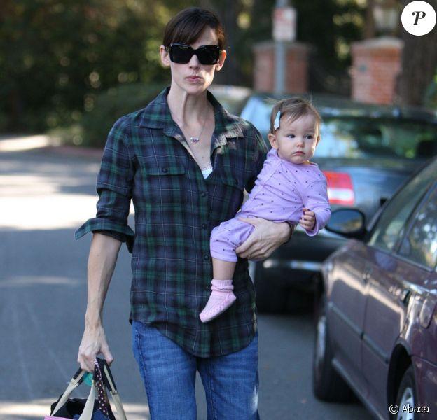 Jennifer Garner et sa fille Seraphina (22 novembre 2009, Brentwood)