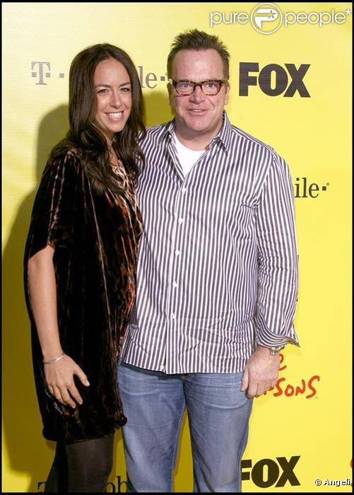 Tom Arnold et sa fiancée en octobre 2009