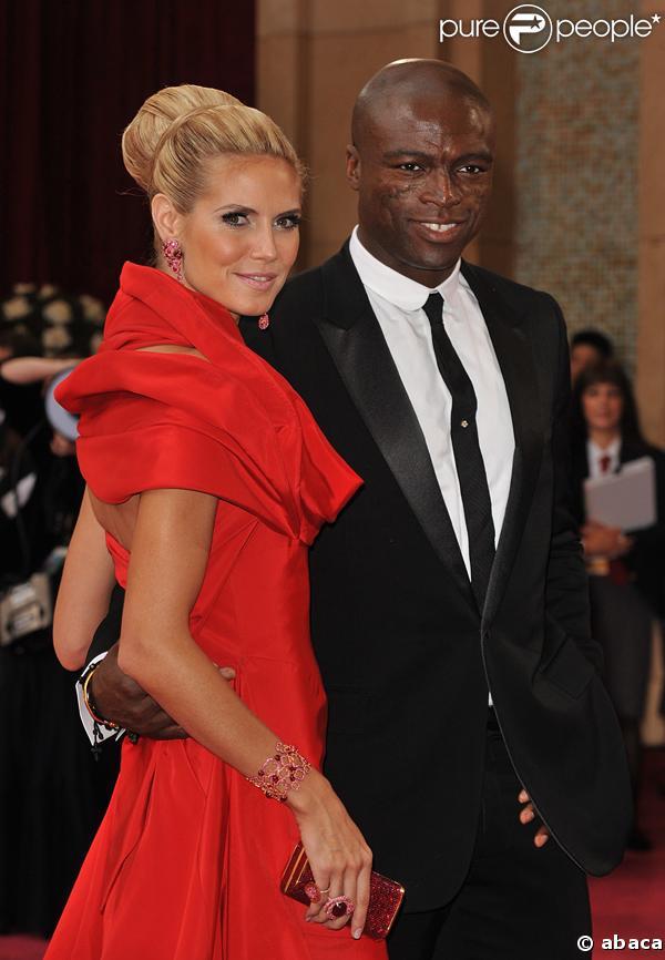 Heidi Klum et Seal à la cérémonie des Oscars 2008