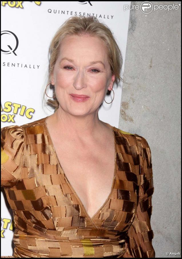 À 60 ans, Meryl Streep est superbe. Ici lors de l'avant-première de  Fantastic Mr. Fox  le 10 novembre 2009.