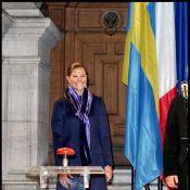 La ravissante Victoria de Suede : Radieuse et en couleurs... elle a mis le feu à Paris !