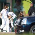 Prince et Paris sortant d'un cours de karaté à Encino en Californie le 2 décembre 2009