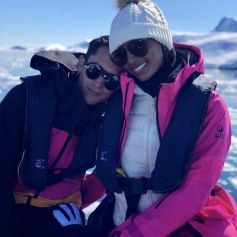 Jasmine Tookes et son mari Juan David Borrero. Février 2021.