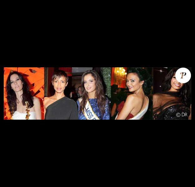 Mareva Galanter, Sonia Rolland, Malika Ménard, Valérie Bègue et Chloé Mortaud
