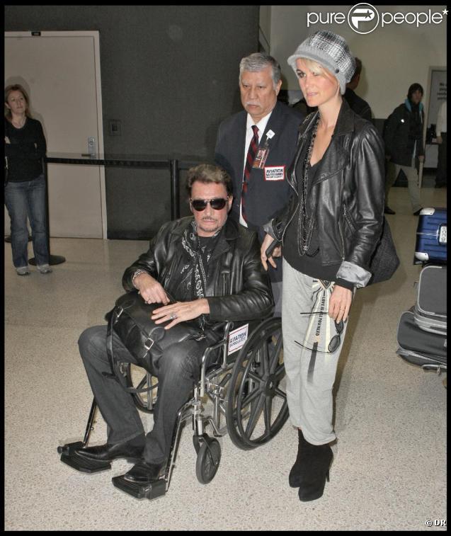 Johnny Hallyday son arrivée à LA avec Laeticia le 1 er Decembre