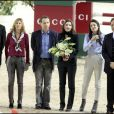 Virginie Couperie, Charles Berling, Charlotte Casiraghi et Guillaume Durand aux Gucci Masters le 13/12/09