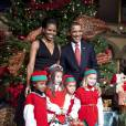 Barack et Michelle Obama à Washington pour la nuit de Noël le 13/12/09