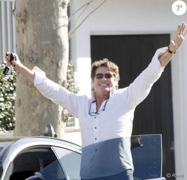 David Hasselhoff sur Melrose Avenue à Los Angeles, le 16 décembre 2009