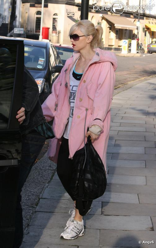 Gwen Stefani et son fils Kingston à Londres, le 28 décembre 2009