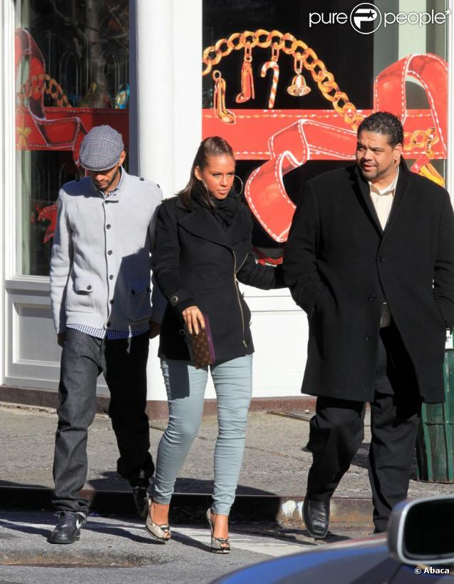 Alicia Keys et Swizz Beatz son compagnon, en plein shopping à New York
