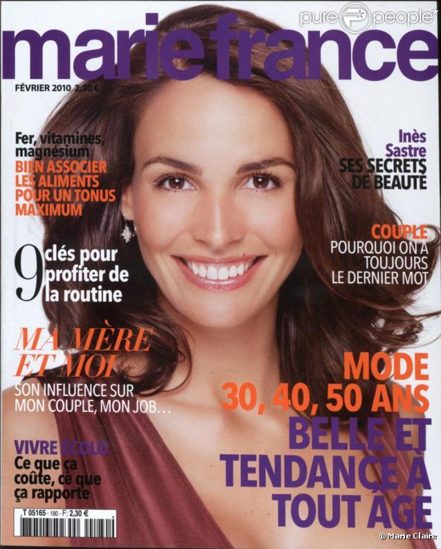 Inés Sastre en couverture de Marie Claire