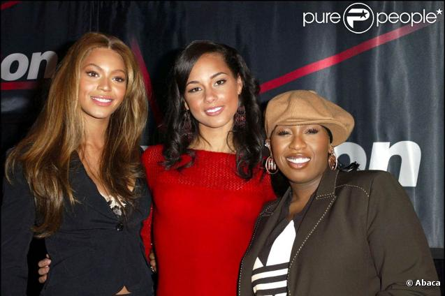 Beyoncé Knowles, Alicia Keys et Missy Elliott en 2004