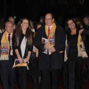Quand Albert, Stéphanie de Monaco et sa fille Pauline, sont entourés de clowns... C'est le cirque !