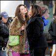 Mischa Barton sur le tournage de Law & Order à New York le 18/01/10