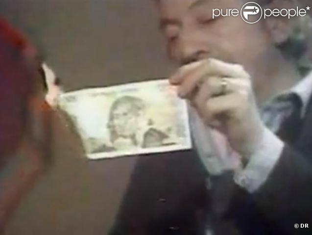 Quand Serge Gainsbourg brûlait un billet de 500 francs...