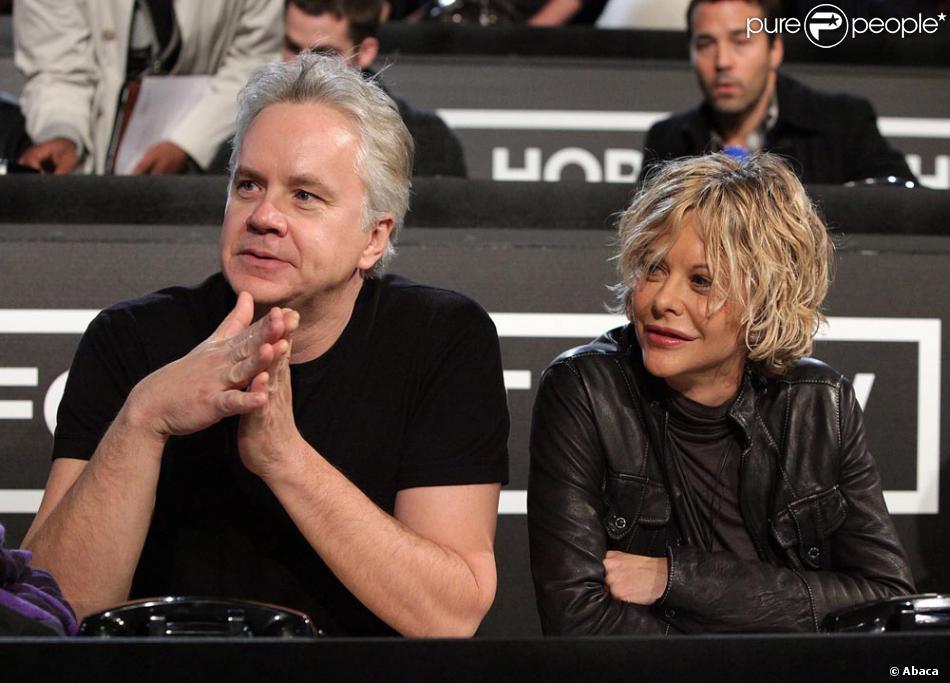 Meg Ryan et Tim Robbins à Los Angeles pendant le Téléthon ...
