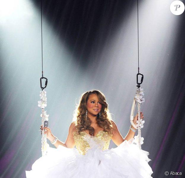 Mariah Carey en concert à Hollywood en Floride, le 22 janvier 2010