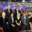 André Dusolier, Arnaud et Patrick Poivre d'Arvor, Patricia Kaas, Michel Drucker sur le célèbre canapé rouge (enregistrement du 27.01.10/Paris)