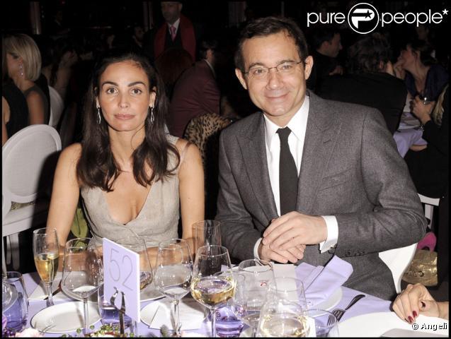 Inés Sastre et Jean-Luc Delarue lors du Dîner de la mode au pavillon d'Armenonville le 28 janvier 2010