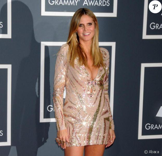 Heidi Klum à la soirée des Grammy Awards le 31 janvier 2010 à Los Angeles