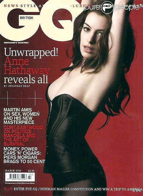 Anne Hathaway en couverture de GQ