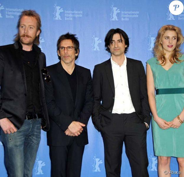 Rhys Ifans, Ben Stiller, Noah Baumbach et Greta Gerwig, présentation de Greenberg à Berlin, le 14 février 2010 !
