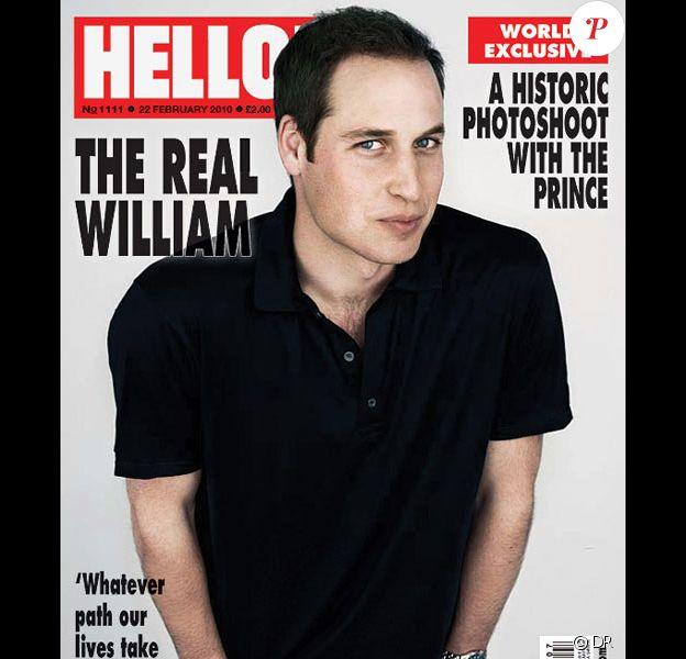 Prince William en couverture de Hello Magazine