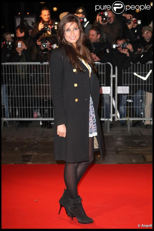 Malika Ménard à la première de Nine, à Paris. 18/02/2010