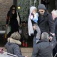 Brad Pitt et Angelina Jolie sont à Venise avec leurs filles Zahara et Shiloh. 18/02/2010