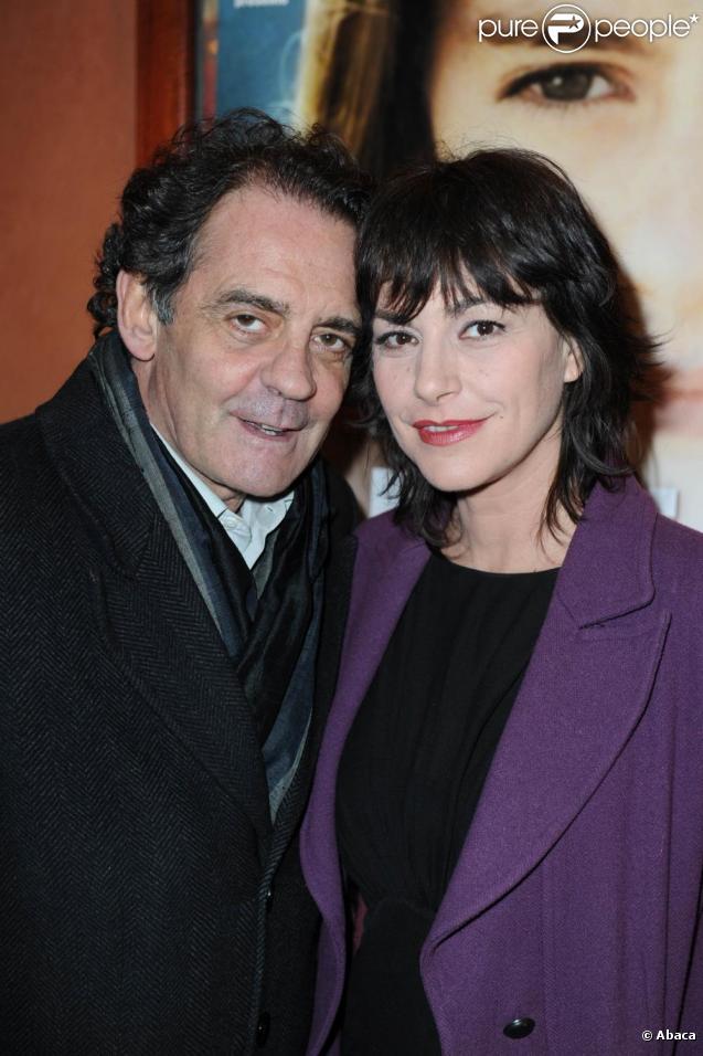 Lio et Jean-François Lepetit à la première du film La Robe du soir, le 23/02/2010