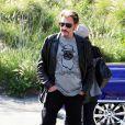Johnny Hallyday en virée à Los Angeles, le 12 janvier 2010 !