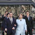 Dmitri Medvedev et son épouse Svetlana vont visiter Notre-Dame de Paris. 02/03/2010
