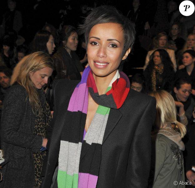 Sonia Rolland au défilé Sonia Rykiel à Paris le 7 mars 2010