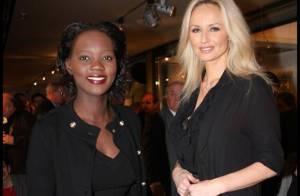 Rama Yade élégante et cool avec une Adriana Karembeu souriante... malgré les tensions !