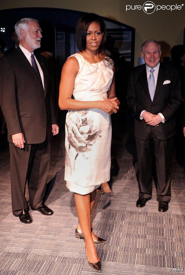 Michelle Obama lors de sa visite au musée des Premières dames à Washington le 9 mars 2010