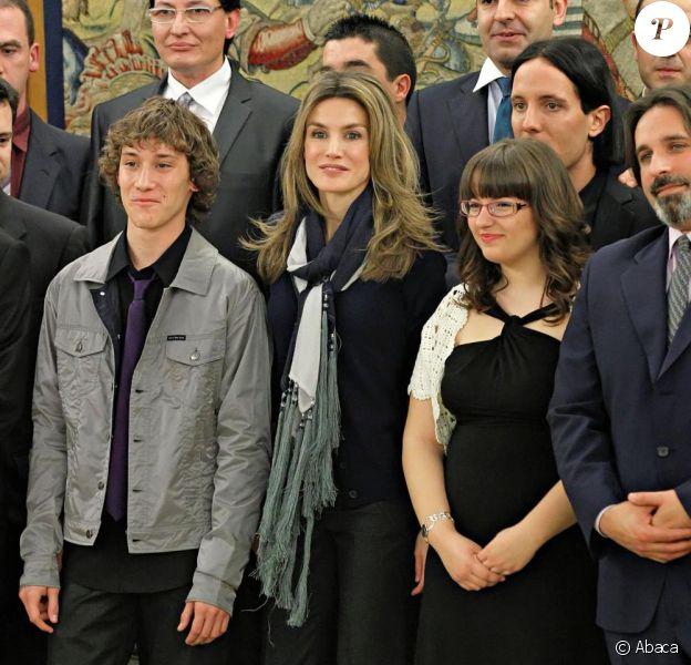La princesse des Asturies, Letizia d'Espagne au palais Zarzuela à Madrid le 12 mars 2010