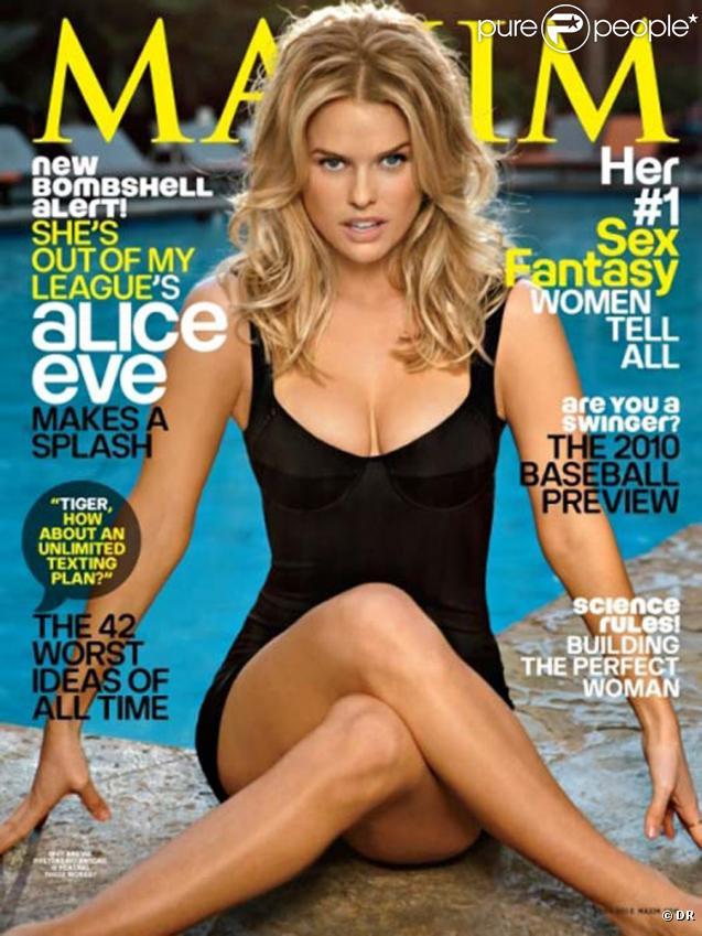 Alice Eve en couverture de Maxim