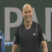 Regardez Andre Agassi et Pete Sampras : le clash en direct !