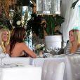 Kristin Cavallari, Audrina Patridge, et Heidi Montag sortant d'un restaurant à Beverly Hills après avoir tourné une scène pour The Hills, le 17 mars 2010
