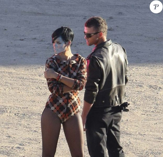 Rihanna et Justin Timberlake sur le tournage du clip Rehab, le 21 octobre 2008 !