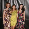 Sarah Jessica Parker au côté de Cynthia Nixon et Kristin Davis lors de la Showest convention à Las Vegas