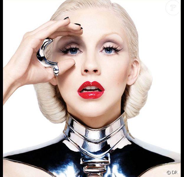 Christina Aguilera sur la pochette de son nouvel album, Bionic