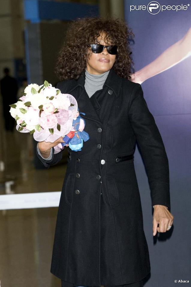 Whitney Houston à Séoul, le 7 février 2010 !