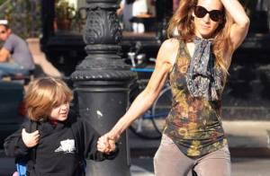 Sarah Jessica Parker : Quand le jeune James Wilkie a sa maman rien que pour lui... il est aux anges !