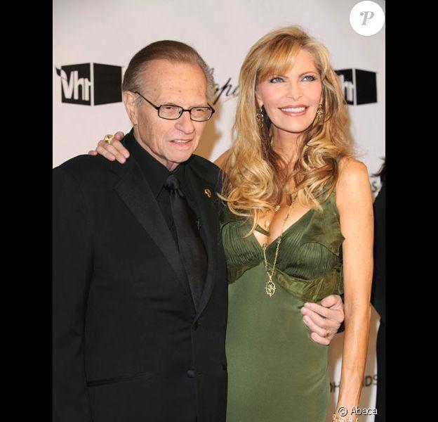 Larry King et sa femme Shawn Southwick en fevrier 2008