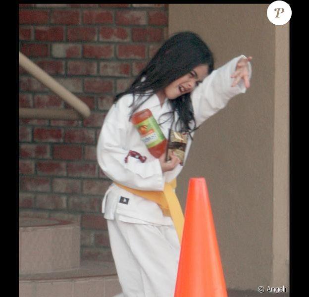 Les enfants de Michael Jackson à leur traditionnelle leçon de karaté à Los Angeles le 14 avril 2010 : sur la photo, Blanket