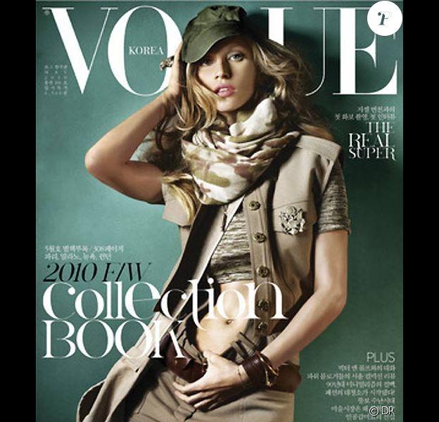 Gisele Bündchen en couverture de Vogue Corée